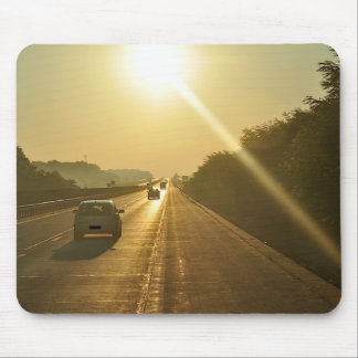 SUNRISE Highway travel cars automobiles driving Mouse Pad
