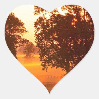 Sunrise Horse Farm Versailles Kentucky Heart Sticker