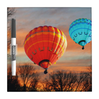 Sunrise Hot Air Balloon Ride Dry Erase Board