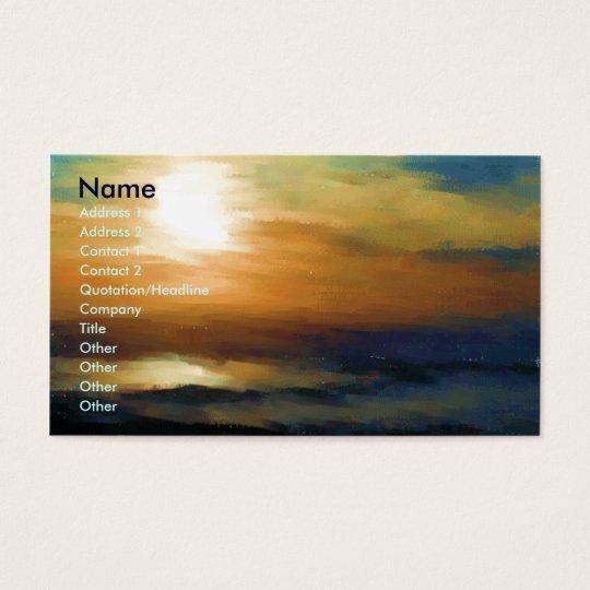 Sunrise Impression Business Card