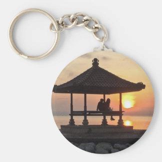 Sunrise in Bali Keychain