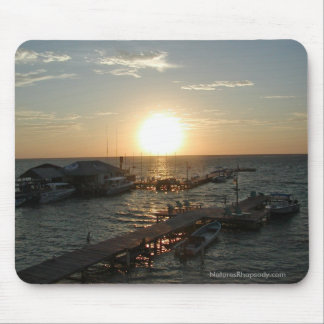 Sunrise In Belize Mousepad By Nature's Rhapsody