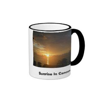 Sunrise In Cancun Coffee Mugs