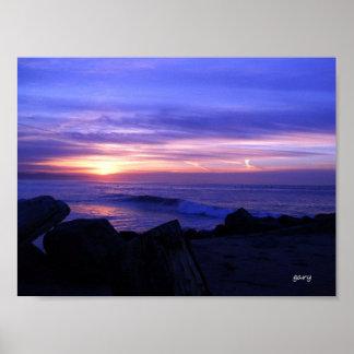 Sunrise in Capitola, California Poster