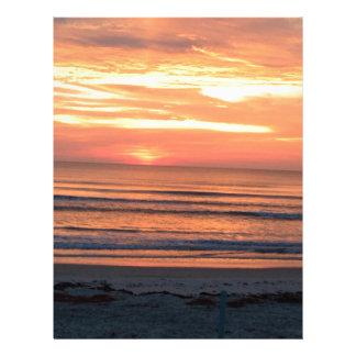 Sunrise in Daytona Beach, FL Letterhead Template