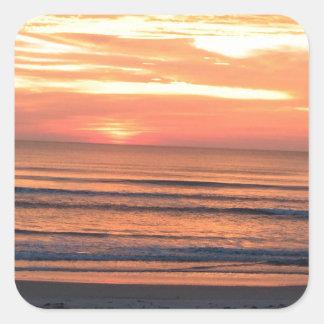 Sunrise in Daytona Beach, FL Square Sticker