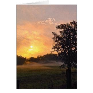Sunrise in Emerson, GA Card