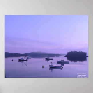 Sunrise in Lubec Poster
