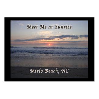 Sunrise in Mirlo Beach, North Carolina Business Card Template