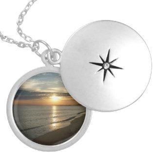 Sunrise in Norfolk VA Round Locket Necklace
