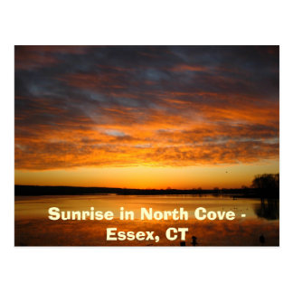 Sunrise in North Cove - Essex, CT Postcard