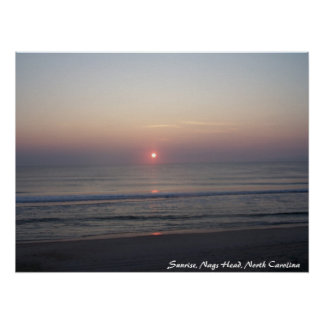 Sunrise in OBX Poster