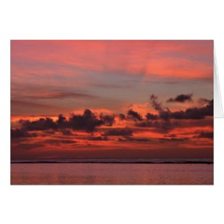 Sunrise in Pinks Greeting Card by Raige Creations