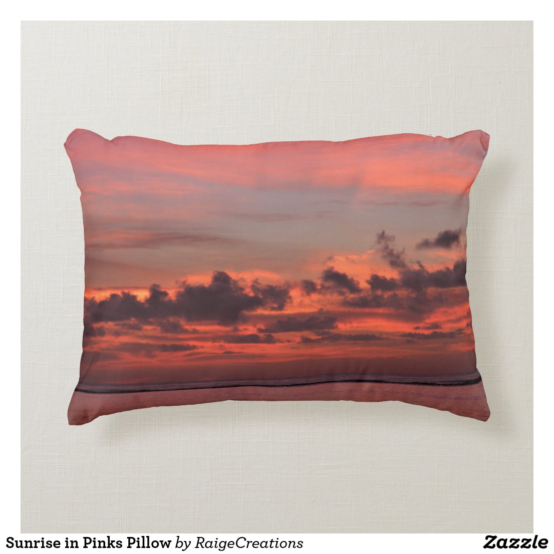 Sunrise in Pinks Pillow