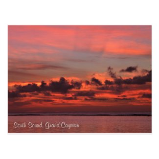 Sunrise in Pinks - South Sound, Grand Cayman Postcard
