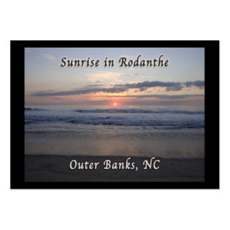 Sunrise in Rodanthe Outer Banks NC Business Card Template