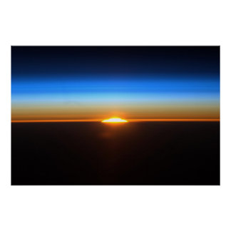 Sunrise in space Poster