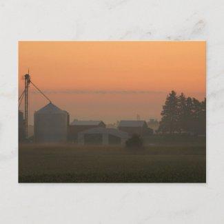 Sunrise in Sparta, Michigan postcard