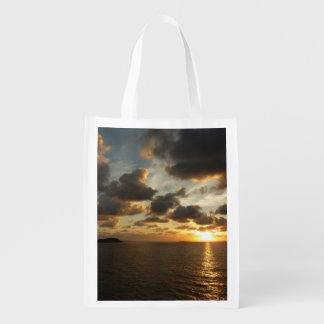 Sunrise in St. Thomas I US Virgin Islands Reusable Grocery Bag