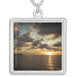 Sunrise in St. Thomas I US Virgin Islands Silver Plated Necklace