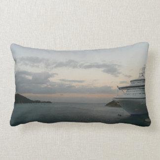 Sunrise in St. Thomas II Cruise Ship Photography Throw Pillow