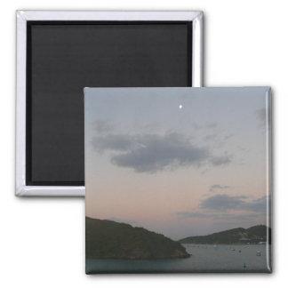 Sunrise in St. Thomas III US Virgin Islands 2 Inch Square Magnet