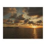 Sunrise in St.Thomas V Stunning Seascape Wood Canvas