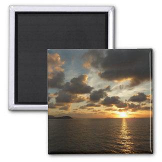 Sunrise in St. Thomas V US Virgin Islands 2 Inch Square Magnet