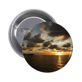 Sunrise in St. Thomas V US Virgin Islands Pinback Button