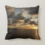 Sunrise in St. Thomas V US Virgin Islands Throw Pillow