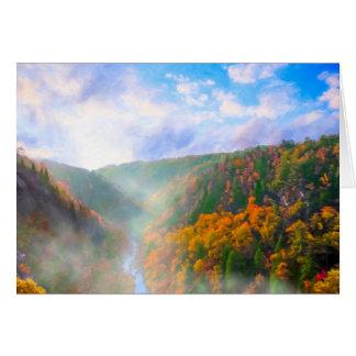 Sunrise In Tallulah Gorge - North Georgia Card