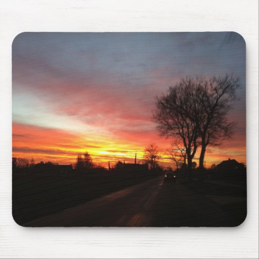 Sunrise in the autumn/morning redness in the autum mousepads