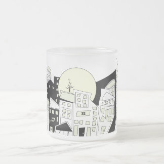 Sunrise In The City Frosted Glass Coffee Mug