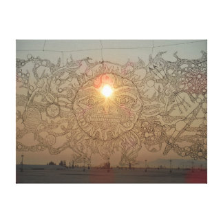 Sunrise in the desert canvas print