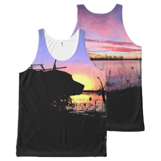 Sunrise in the Duck Blind All-Over-Print Tank Top