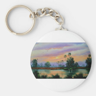 Sunrise in the Everglades Keychain