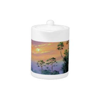 Sunrise in the Everglades Teapot