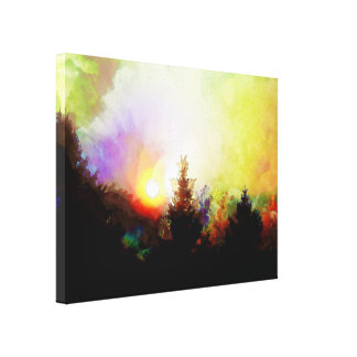 Sunrise In The Forest Gallery Wrap Canvas