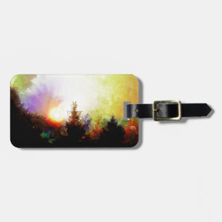 Sunrise In The Forest Tag For Luggage