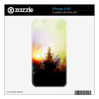 Sunrise In The Forest iPhone 4 Skin