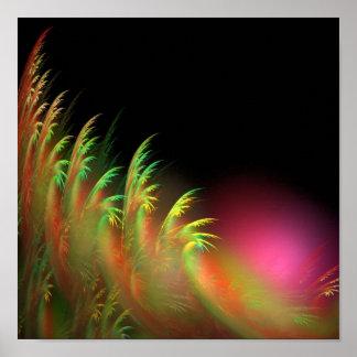 Sunrise in the jungle poster