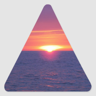 Sunrise In The Med Triangle Sticker