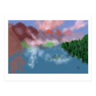 Sunrise in the Mountains Art Postcard