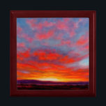 """Sunrise in the Mountains of Montana Keepsake Box<br><div class=""""desc"""">This image is from the painting called &quot;Morning Fire&quot;,  by Carol Zirkle. Whoa!! Whoa!!! Whoa!!! Here she comes! The morning sky is on FIRE!!!! Are you READY!?!?!?!</div>"""