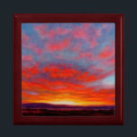 "Sunrise in the Mountains of Montana Keepsake Box<br><div class=""desc"">This image is from the painting called &quot;Morning Fire&quot;,  by Carol Zirkle. Whoa!! Whoa!!! Whoa!!! Here she comes! The morning sky is on FIRE!!!! Are you READY!?!?!?!</div>"