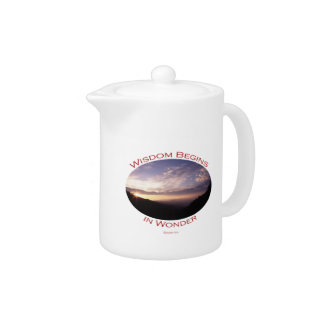 sunrise in the smoky mountains teapot