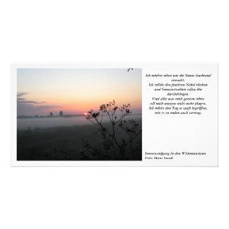 Sunrise in the Wümmewiesen Card