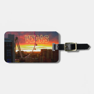 Sunrise In Vegas High Roller Ferris Wheel Luggage Tag