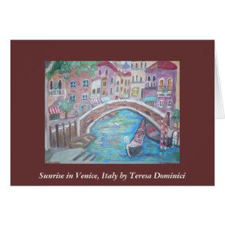 Sunrise in Venice Card