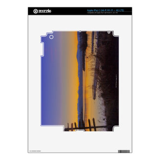 Sunrise in winter in Seattle 2 Decal For iPad 3